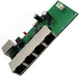 RealtekのチップセットLED RJ45の小型4ポート10 100Mbpsはボード1つのアップリンクポートDC 5-15V広いReangeのプラグNの演劇管理対象外のスイッチが付いているイーサネットスイッチPCBの絶食する