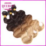 Ombre Color 8A 100% virgem humanos trama/Extensão de cabelo