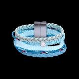 Monili Handmade delle donne del Knit del braccialetto della corda del cotone