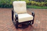庭のSwivel&Glideの雑談のグループの鋳造アルミの一定の家具