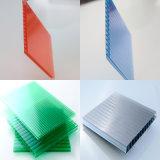la cavité en plastique de construction de polycarbonate de matériau de feuilles de 10mm lambrisse l'anti regain