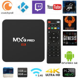 Kodi 17.3 Mxq PRO Android TV Box Amlogic S905W 1GB/8GB Decodificador receptor de satélite Smart TV Box 4K DE SOPORTE DE ALTA DEFINICIÓN 1080P, WiFi, BT