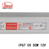 Smun 50W 12V 4A étanches IP67 Driver de LED de tension constante