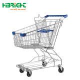 4 roues chariot de supermarché en métal pour la vente