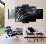 [هد] طبع هالة 5 قطعات حارس [بينتينغ كنفس] [برينت رووم] منزل زخرفة طبعة ملصقة صورة نوع خيش إطار جدار فنية صور