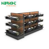 Étagère de rangement en bois de supermarchés de vin de liqueur Bouteille de vin l'armoire rack d'affichage