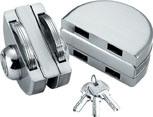 Gabinete de aço inoxidável 304 Fechadura da porta de vidro (DL-103)