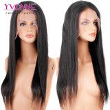 Brasilianisches gerades Jungfrau-Haar-volle Spitze-Perücke-Menschenhaar-Perücke 100%