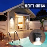 8 lampes imperméables à l'eau de jardin de lumière solaire extérieure de mur d'éclairage LED/lampe