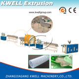 Línea reforzada fibra máquina plástica de la protuberancia del manguito del PVC del estirador