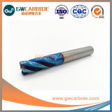 4 Flûtes Solid Carbide Rayon de coin fin Mills