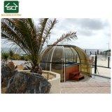 Grand bain à remous télescopique couvrent un spa de luxe bâche de piscine