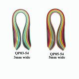 Multicolor Quilling tiras de papel con distinta anchura03-54 (QP)