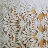 衣服のアクセサリおよびホーム織物のためのスイスのレースの工場在庫ポリエステル刺繍のトリミングの空想の網のレース