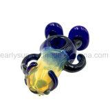 Funny pequeno povo Amarelo Handpipe Colher de vidro para fumar Universal (ES-HP-119)