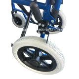 Manual ligero, barato, de acero, sillón de ruedas funcional, lisiado