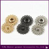 Botão de metal redonda de acessórios de vestuário para vestuário de costura