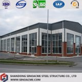 Prefabricated Steel Frame Office Building with sand-yielded panel