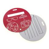 Изготовленный на заказ бирка багажа пластмассы PP/PVC формы/размера круглая