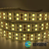 La CE aprobó RoHS tiras de LED Flexible SMD5050 120M/LED blanco cálido de doble fila