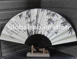 Ventilador de plegado de bambú personalizada con la sublimación de bricolaje