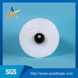 Blanco sin procesar hecho girar el 100% del hilo de coser 40/2 del poliester