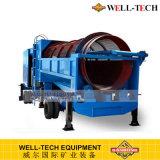 Gandongの製造業者からの移動式砂の金の洗濯機の移動式トロンメル