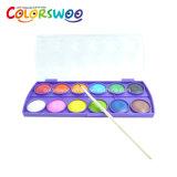 El arte suministra la torta del color de agua del 12*3.0cm para la pintura y el gráfico W1230c