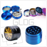 Gldgの高品質のガラスアクセサリの金属卸売価格の4つの層のハーブの粉砕機
