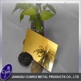 La couleur acier inoxydable /// de titane or Gold-Ti plaque titane / fiche
