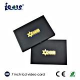 Mismo elegancia 7 tarjeta video video del saludo Card/LCD de la pulgada/tarjeta de visita video