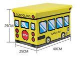 Складывая место табуретки типа школьного автобуса кладет коробку в коробку хранения тахты
