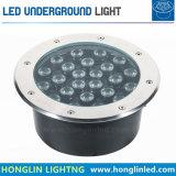 Luz subterráneamente ahuecada blanca caliente blanca fresca al aire libre de Inground 18W LED
