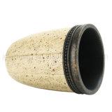 Culbuteurs et tasses de lavage de salle de bains de fini de pierre de sable