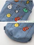 Couche de jeans de crabot de vêtements de jeans d'animal familier pour de petits et moyens crabots