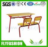 Conjuntos del escritorio y de la silla del doble de los muebles de la escuela secundaria de Sf-21d