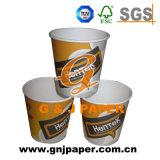 Двойным бумажный стаканчик покрынный PE горячий используемый на горячий выпивать