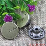 Custom 17mm bouton Jeans en métal pour les vêtements