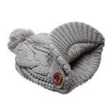 Custom Visor Beanie Women Knit Visor Beanie Hat Hot Salts Lime pit POM POM Beanies Cable Slouch Cape