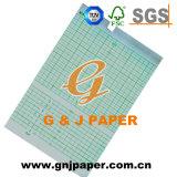 Taille du rouleau grille rouge Medical tableau de papier avec noyau en plastique
