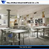 Modèle rond de Tableau de cafétéria de rectangle de meubles de restaurant de cuisine