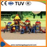 Малыши сползают напольное оборудование спортивной площадки парка атракционов для детей (WK-A102)