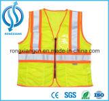A manufatura de China personalizou a veste/Waistcoat reflexivos da segurança do verde barato do engranzamento