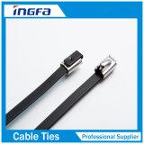 fascette ferma-cavo dell'acciaio inossidabile del bastone del PVC di spessore di 1.2mm con il rivestimento nero