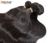 extensões 100% brasileiras do cabelo humano do Virgin da onda do corpo 9A I9