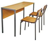 Escritorio y silla de madera del doble del estudiante de los muebles de la sala de clase de Sf-08d