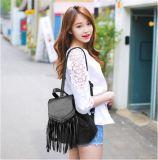 Пакет нового Schoolbag Backpacks кожи Tassel женщин ежедневный (WDL0943)