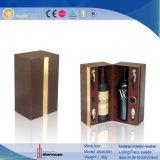 Vino de lujo de cuero caja de madera Mostrar vino Vino de caja de herramientas (5493)