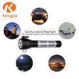 Lanterna Solar multifuncional luz de martelo de Segurança Lanterna LED recarregável USB com a faca de corte