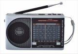 Am/FM/Sw1-7 9 bandas de radio portátil con USB/TF/Bluetooth/recargable